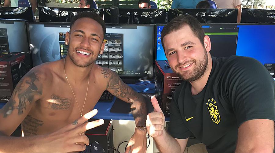 Neymar i FalleN - zawodnik SK Gaming