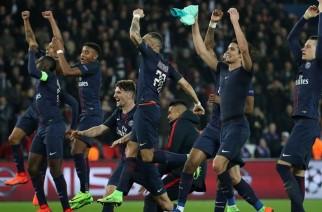 Radość zawodników PSG po zwycięstwie 4:0 w pierwszym meczu