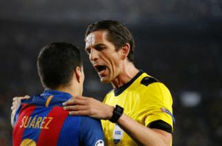 Sędzia meczu Barcelony z PSG zawieszony