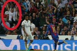 Fani Barcelony ukryli się wśród kibiców Realu na Santiago Bernabeu