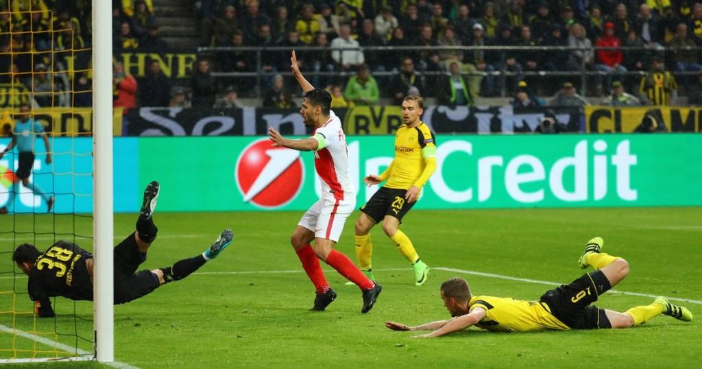 Monacos-Radamel-Falcao-celebrates-after-Borussia-Dortmunds-Sven-Bender-scored-a-own-goal-and-the-s