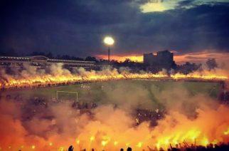 Racowisko Partizana po mistrzostwie | Fot. Twitter.com/FKPartizanBG