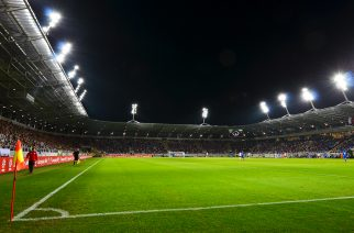Piłkarska inauguracja Areny Lublin w 2014 roku. Fot. Dariusz Miącz