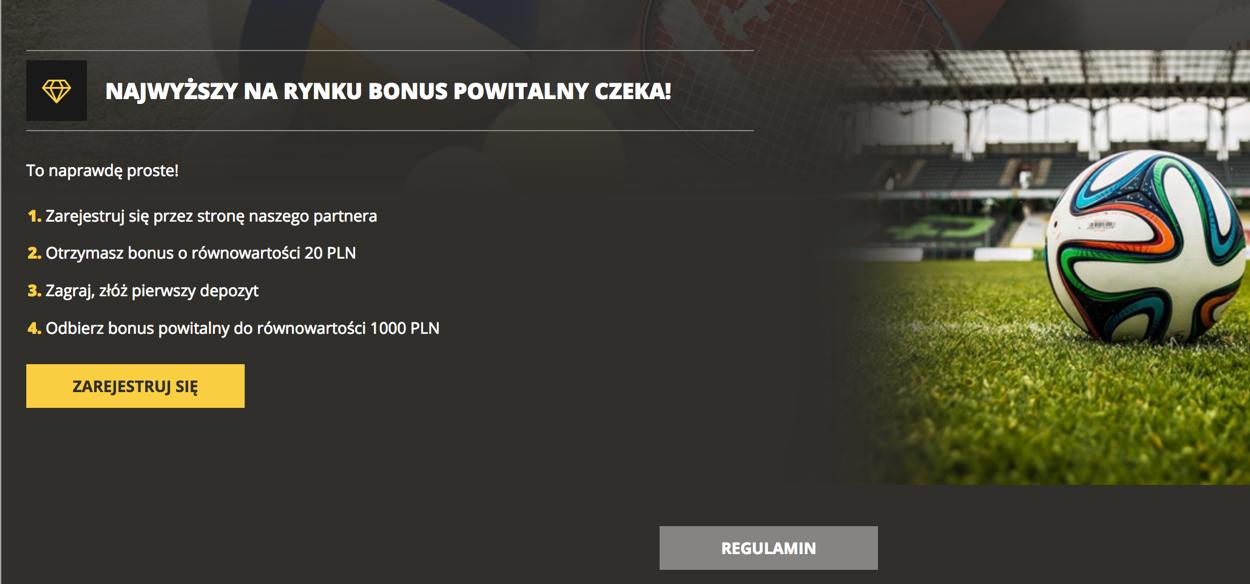 LV BET rejestracja promocja bonus 20PLN Typy bukmacherskie