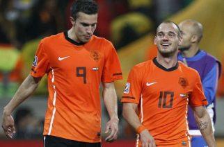 Robin van Persie i Wesley Sneijder w barwach Oranje