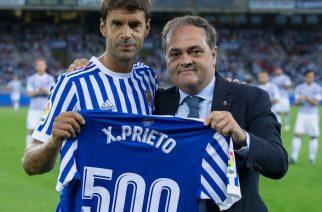 Xabi Prieto niedawno uczcił swój 500. mecz w barwach Realu Sociedad