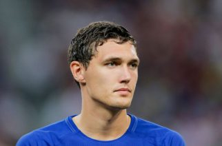 SINGAPORE, SINGAPORE - JULY 25: Chelsea Defender Andreas Christensen during the International Champions Cup match between Chelsea FC and FC Bayern Munich at National Stadium on July 25, 2017 in Singapore. (Photo by Power Sport Images/Getty Images)