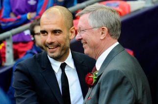 Pep Guardiola oraz Sir Alex Ferguson