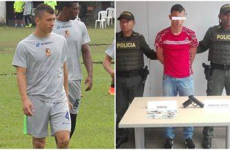 Ocampo po lewej jako piłkarz, po prawej jako złodziej (fot.elrincondelvinotinto.com)