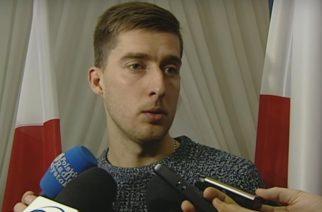 Taras Romanczuk chwilę po oficjalnym odebraniu decyzji o nadaniu obywatelstwa polskiego (screen: youtube.com/sporttvppl)