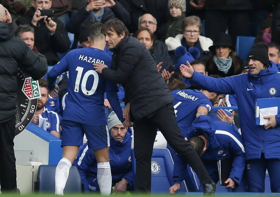Antonio Conte i Eden Hazard