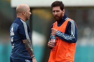 Jorge Sampaoli i Leo Messi