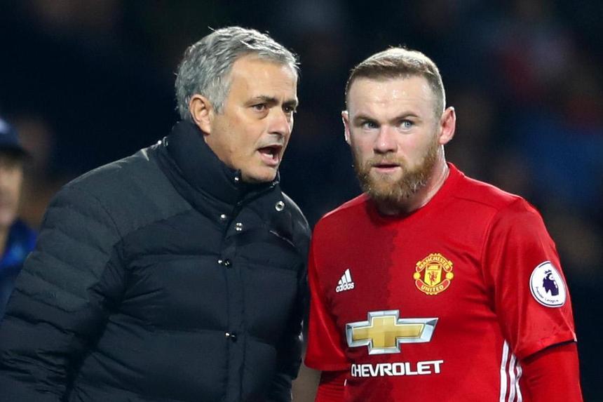 Wayne Rooney i Jose Mourinho