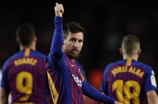 Leo Messi po zdobyciu bramki numer 400 w La Liga
