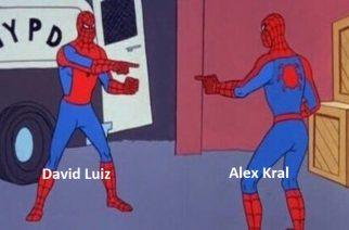 David Luiz dziękuje sam sobie. Brazylijczyk znalazł swojego sobowtóra!