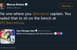 """""""Zamieniłeś opaskę kapitana na ławkę w Barcelonie"""" – Cesc Fabregas szybko wyjaśnił uszczypliwego kibica!"""