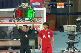 Chiński zespół drwi z przepisów. Zmiana w… 55 sekundzie meczu!