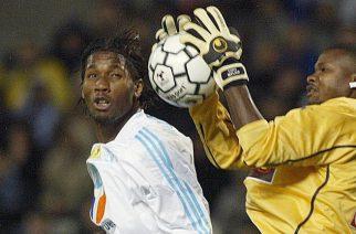 Tony Sylva i Didier Drogba podczas rywalizacji w Ligue 1