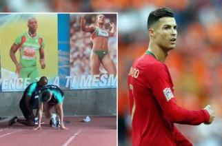Wakacje? Nie dla wszyskich. Ronaldo trenuje z rekordzistą Europy