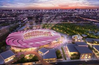 Nowy stadion klubu Beckhama robi wrażenie. Tylko ten kolor…