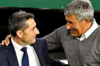 """Jedyny wyjątek, czyli pechowe """"69"""" Valverde z Quique Setienem"""