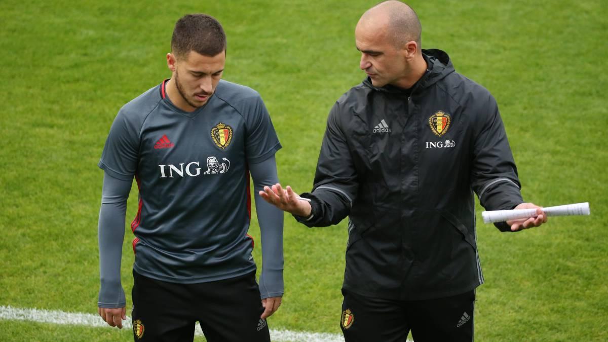 """Roberto Martinez wierzy w Edena Hazarda – """"On może wygrać Złotą Piłkę"""""""