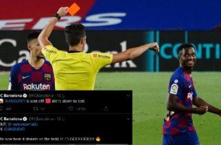 Niefortunny wpis Barcelony w związku ze zmianą Ansu Fatiego
