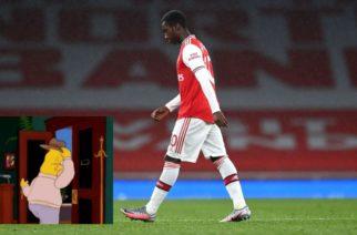 Występ Eddiego Nketiaha przedmiotem żartu wśród kibiców Premier League