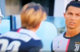 Ronaldo jak Messi? Portugalczyk przewracał oczami po wskazówkach Sarriego [WIDEO]