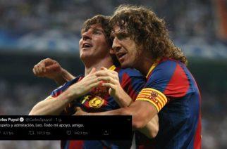 Carles Puyol wspiera Messiego. Trzęsienie ziemi w Barcelonie!