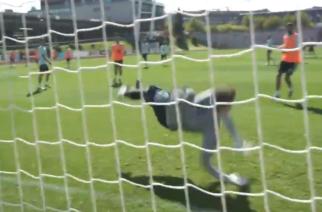 Kepa Arrizabalaga błyszczy na treningu reprezentacji! [WIDEO]