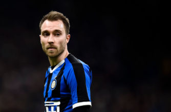 STADIO GIUSEPPE MEAZZA, MILAN, ITALY - 2020/01/29: Christian Eriksen of FC Internazionale looks on during the Coppa Italia football match between FC Internazionale and ACF Fiorentina. FC Internazionale won 2-1 over ACF Fiorentina. (Photo by Nicolò Campo/LightRocket via Getty Images)