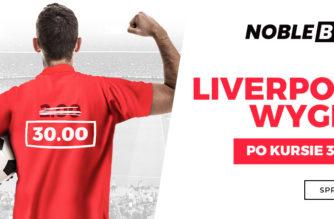Kurs 30.00 na zwycięstwo Liverpoolu? To możliwe!