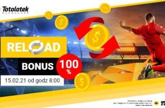 Reload 100% do 100 PLN w Totolotku!
