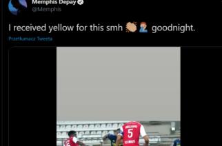 Kuriozalna żółta kartka Memphisa Depaya w starciu z Reims! [WIDEO]