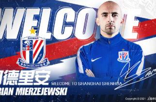 Adrian Mierzejewski został graczem Shanghai Shenhua!