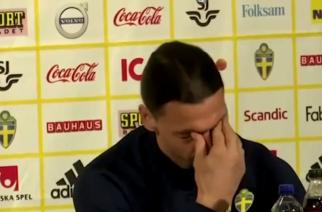 Wzruszony Zlatan Ibrahimović w trakcie konferencji prasowej [WIDEO]