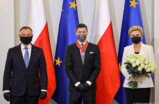 Robert Lewandowski odznaczony Krzyżem Komandorskim Orderu Odrodzenia Polski