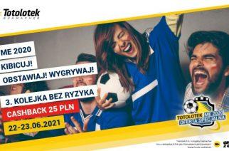 Lucky Loser 25 PLN EURO 2020 3. kolejka w Totolotku