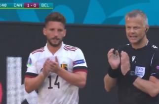 Piękny moment w meczu Dania – Belgia. Minuta dla Christiana Eriksena! [WIDEO]