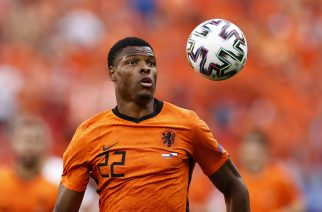 BUDAPEST - Denzel Dumfries of Holland during the UEFA EURO, EM, Europameisterschaft,Fussball 2020 game between the Netherlands and the Czech Republic at the Puskas Arena on June 27, 2021 in Budapest, Hungary. ANP MAURICE VAN STEEN EURO 2020 round of 16 2020/2021 xVIxANPxSportx/xxANPxIVx *** BUDAPEST Denzel Dumfries of Holland during the UEFA EURO 2020 game between the Netherlands and the Czech Republic at the Puskas Arena on June 27, 2021 in Budapest, Hungary ANP MAURICE VAN STEEN EURO 2020 round of 16 2020 2021 xVIxANPxSportx xxANPxIVx 433113861