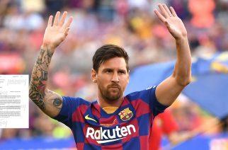 Słynny burofax Leo Messiego ujrzał światło dzienne