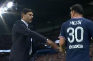 Pierwsze zgrzyty w PSG? Wymowna reakcja Messiego przy zejściu z boiska! [WIDEO]