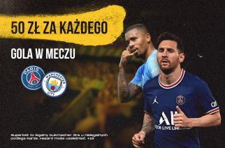 Specjalna promocja! Bukmacher oferuje pieniądze za KAŻDEGO gola w meczu PSG – Manchester City
