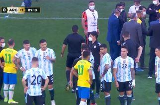 Wielkie zamieszanie w meczu Brazylia – Argentyna. Wkroczyły służby, by zatrzymać piłkarzy! [AKTUALIZACJA]
