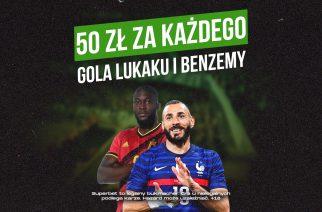 Specjalne bonusy za gole Lukaku i Benzemy. Wyjątkowa oferta bukmachera